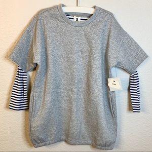 NWT - Stem Stripe Sleeve Shift Dress (Girls 5)